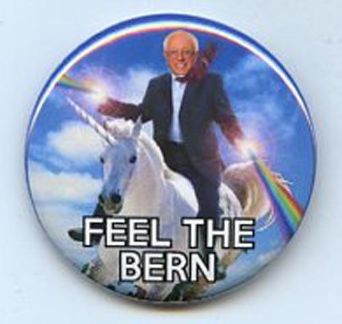 Bernie Sanders Feel The Bern Unicorn Button