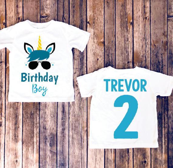 Birthday Boy Unicorn Shirt Unicorn Birthday Party Matching