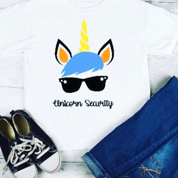 Boys Unicorn Security Shirt  Unicorn Kids Shirts  Family Unicorn