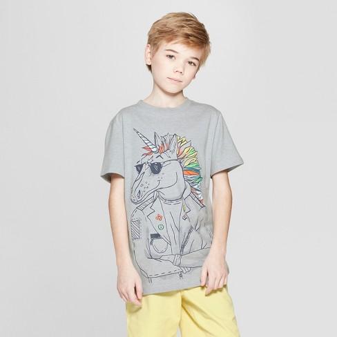 Boys' Unicorn Short Sleeve Graphic T