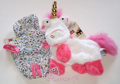Build A Bear Minions Fluffy Papoy Unicorn Sleeper Unstuffed Pink