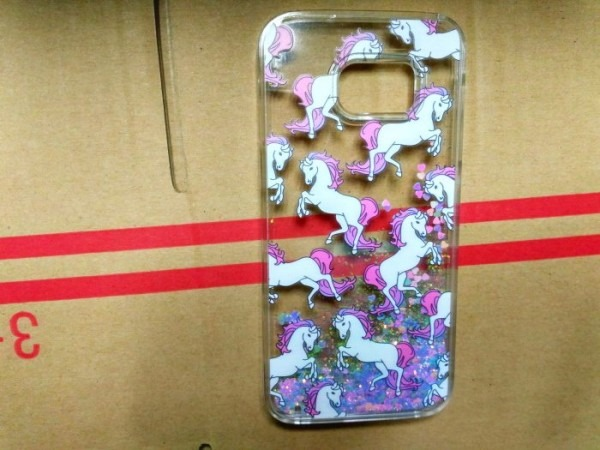 Case Galaxy S7, Galaxy S7 Edge Glitter Bling Cute Unicorn Horse