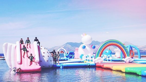 Celebrate Your Love Of Unicorns At This Inflatable Water Park