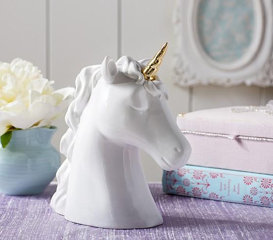 Ceramic Unicorn Coin Bank For Kids