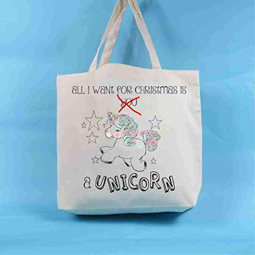 Christmas Unicorn Tote Bag Christmas Decoration Christmas Present