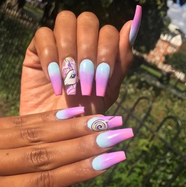Colors, Long Nails, Nails, Nails Art, Pretty Nails