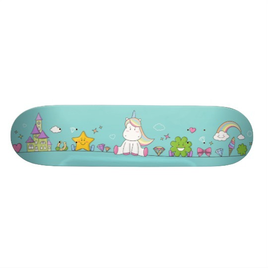 Cute Unicorn Skateboard For Girls