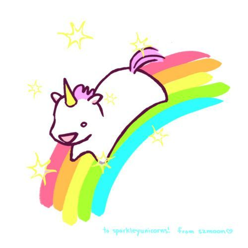 Derpy Unicorn On A Rainbow