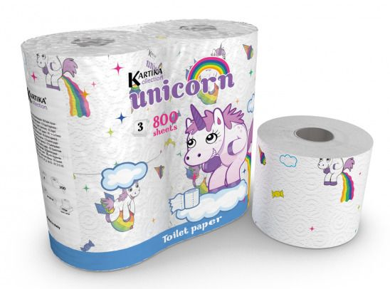 Details About Unicorn Toilet Paper Tissue 4 Rolls Pack Birthday