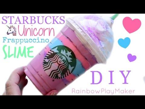 Diy Starbucks Unicorn Slime Frappuccino!!! How To Make Laffy Taffy