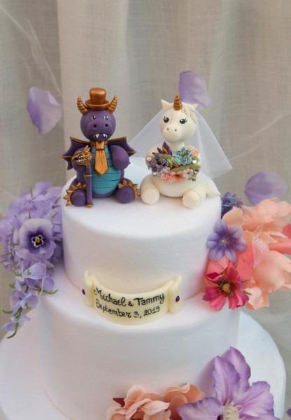 Dragon Cake Topper Unicorn Cake Topper Wedding Cake Topper