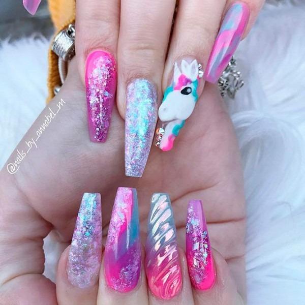 Fairytale Unicorn Nails Designs To Adore