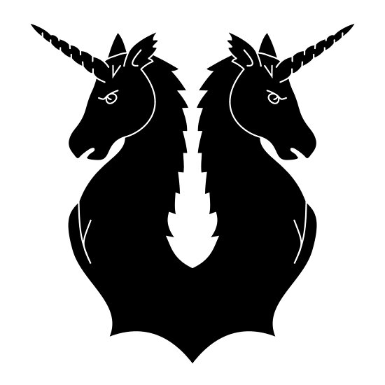 Family Crest Unicorns  Poster By Pdgraphics