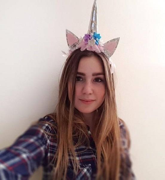 Flower Unicorn Headband Flowers Unicorn Hair Bow Unicorn