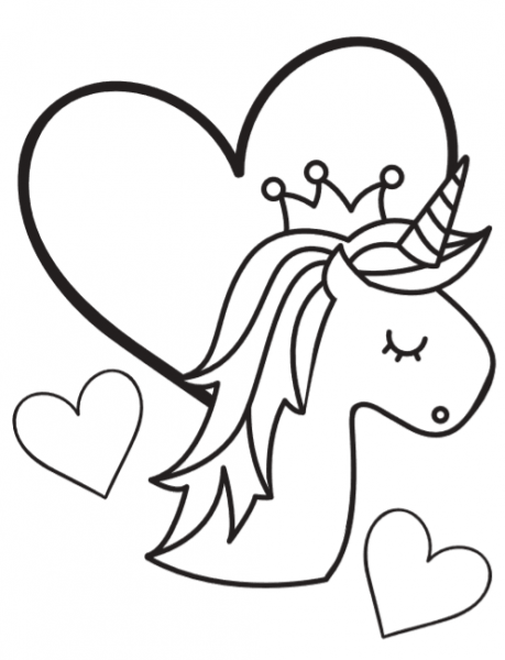 Free Unicorn Coloring Book Pages  So Cute!