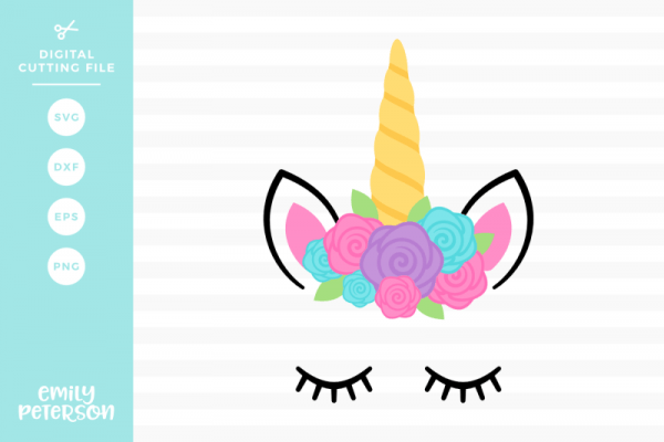 Free Unicorn Face Svg Dxf Crafter File