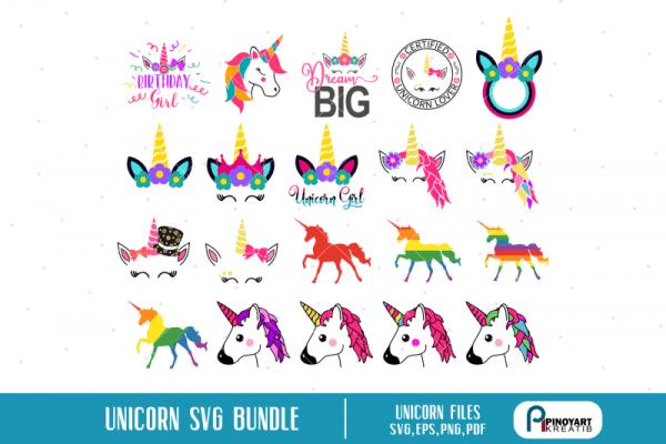Free Unicorn Svg Bundle, Unicorn Svg, Unicorn Graphics, Unicorn