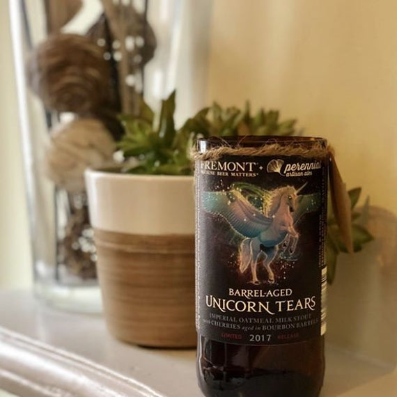 Fremont Brewing Barrel Aged Unicorn Tears Craft Beer Candle