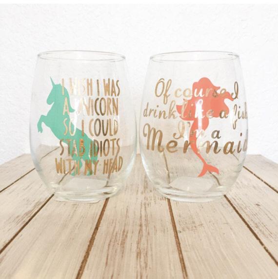 Funny Wine Glasses Unicorn Wine Glass Unicorn Gift I