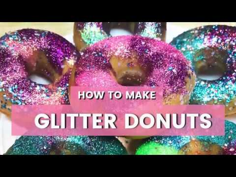 Glitter Donuts Diy  Unicorn, Mermaid, Galaxy, And Rainbow