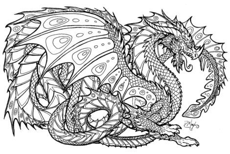 Hard+dragon+coloring+pages+for+adults