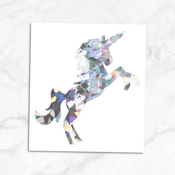 Holographic Unicorn Decal Holographic Unicorn Sticker Decal