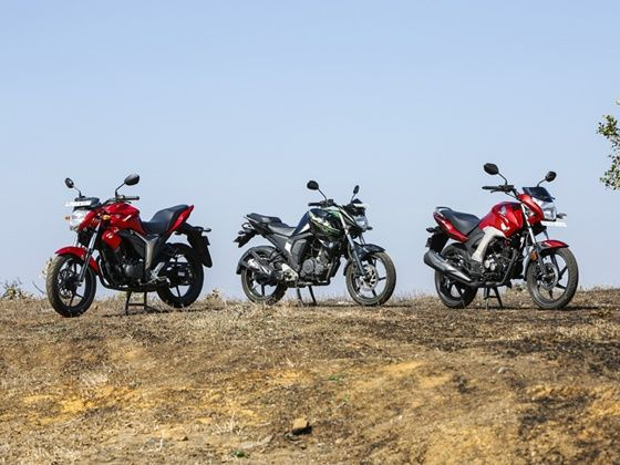Honda Unicorn 160 Vs Suzuki Gixxer Vs Yamaha Fz