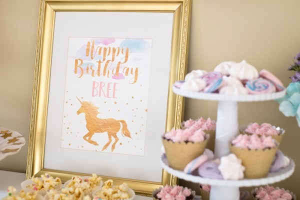 Kara's Party Ideas Pastel & Gold Unicorn Party