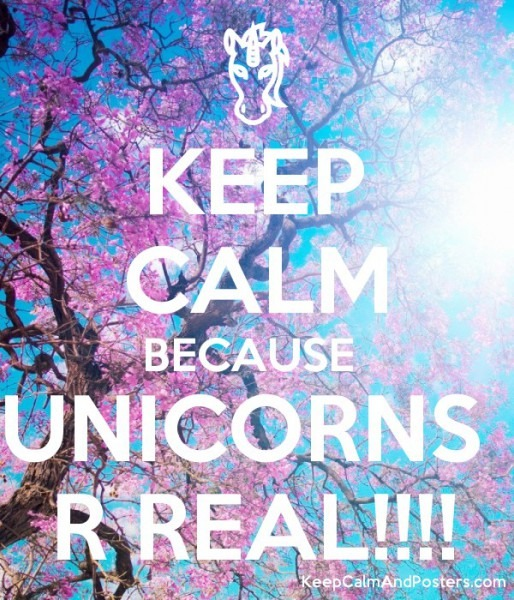 Keep Calm Because Unicorns R Real!!!!