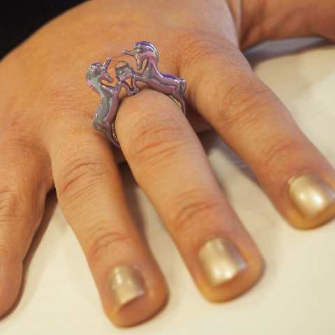 Lilac Iridescent Unicorn Ring Size S M
