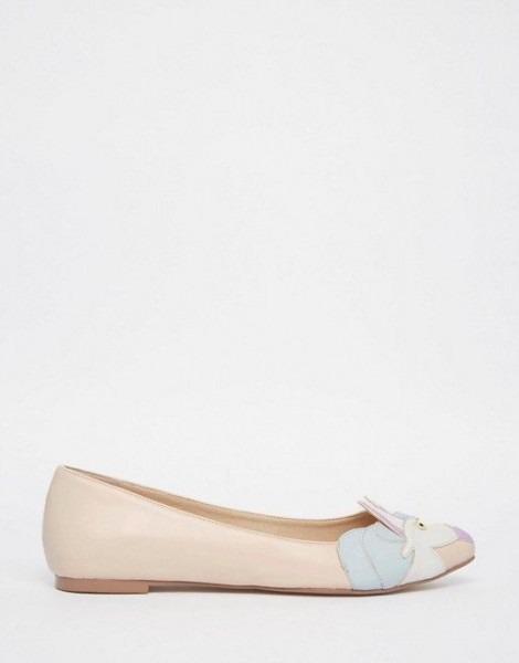 Lulamoon Pointed Unicorn Ballet Flats