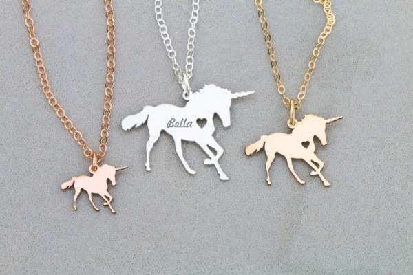 Magical Unicorn Jewelry Personalized Rose Gold