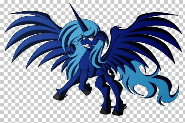 My Little Pony Horse Drawing Winged Unicorn, Mlp Luna Werewolf