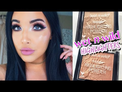 New Wet N Wild Megaglo Highlighters Review & Comparison Swatches
