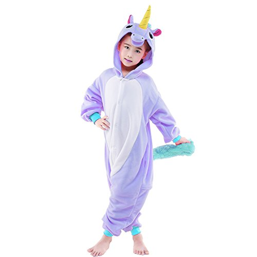 Newcosplay Children Unisex Unicorn Onesie Pajamas Costume (115