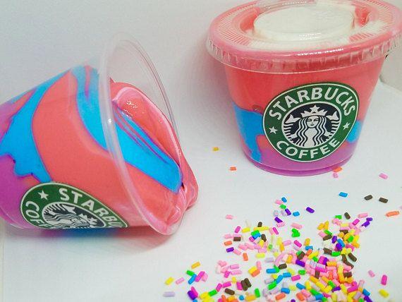 Omg!!!!!! Unicorn Frappuccino Slime!  Slime  Starbucks  Slimeshop
