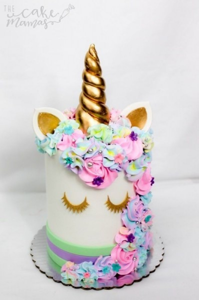 Pastel Colored Unicorn Themed Birthday Cake! Call Or Email To Book