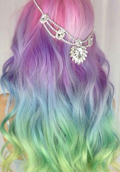 Pastel Rainbow Dyed Hair @amythemermaidx … In 2019