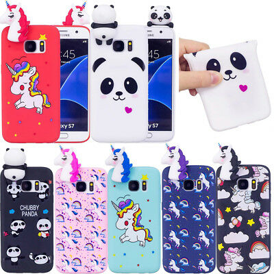 Pattened 3d Cute Panda Unicorn Soft Silicone Case Cover For