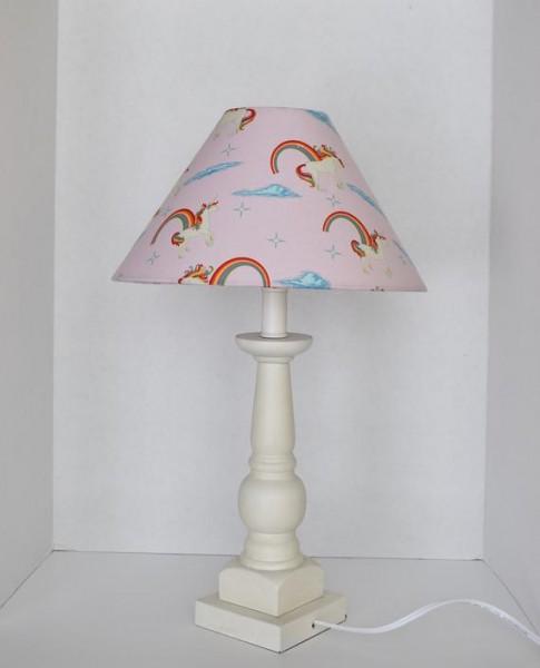 Pink Unicorns & Rainbows Unicorn Lampshade Nursery Lamp