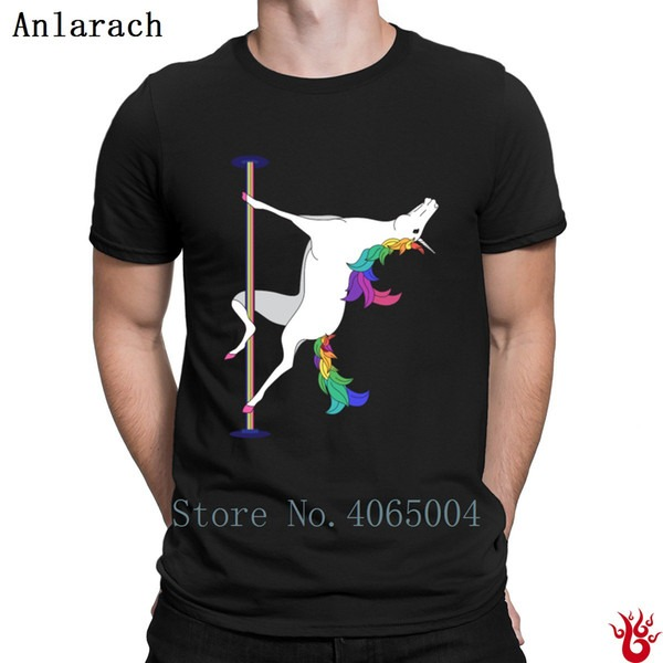 Pole Dancing Unicorn T Shirt 100  Cotton Cool Hiphop Unisex Men's