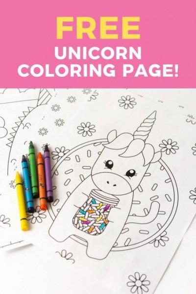 Printable Unicorn Coloring Page