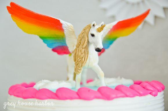 Rainbow Pegacorn (pegasus + Unicorn) Birthday Party