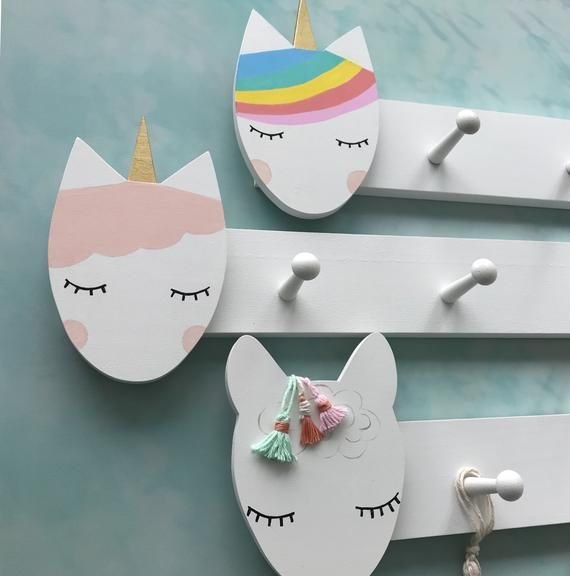 Rainbow Unicorn Clothing Rack Unicorn Peg Rack Unicorn Coat