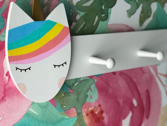 Rainbow Unicorn Clothing Rack, Unicorn Peg Rack, Unicorn Coat Rack