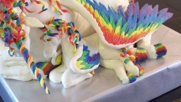 Rainbow Unicorn Pegasus Cake