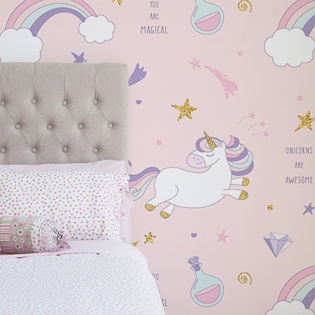 Rainbow Unicorn Removable Wallpaper