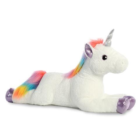 Rainbow Unicorn Super Flopsie Plush (27 Inches)