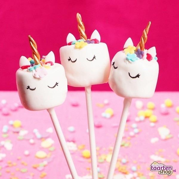 Recept  Unicorn Marshmallow Pops