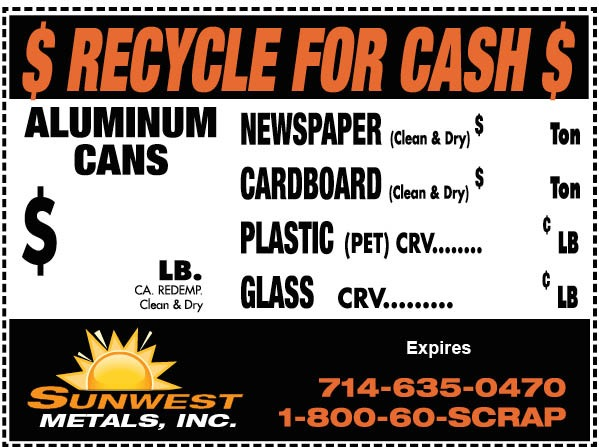 Recycling Services In Anaheim, Ca